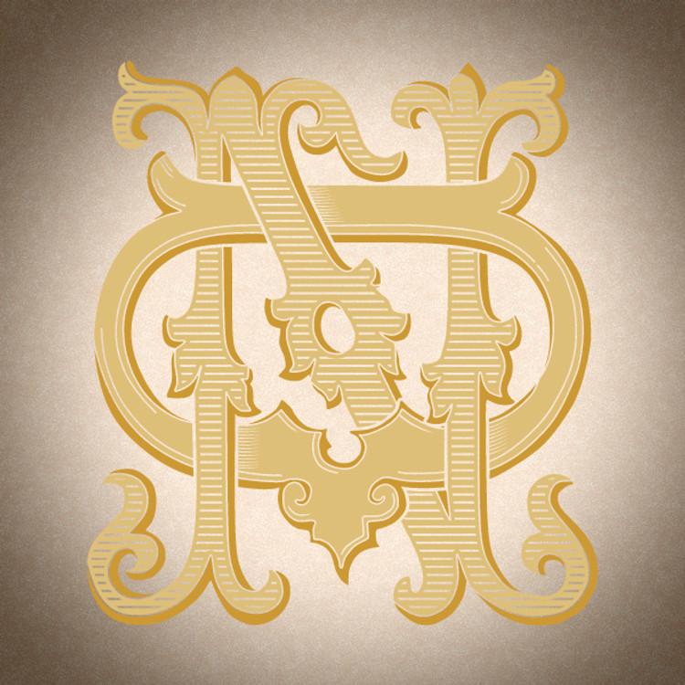 Victorian Monogram DN ND D2 - hand drawn design, graphic design only - download