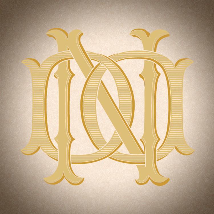 Victorian Monogram DN ND D3 - hand drawn design, graphic design only - download