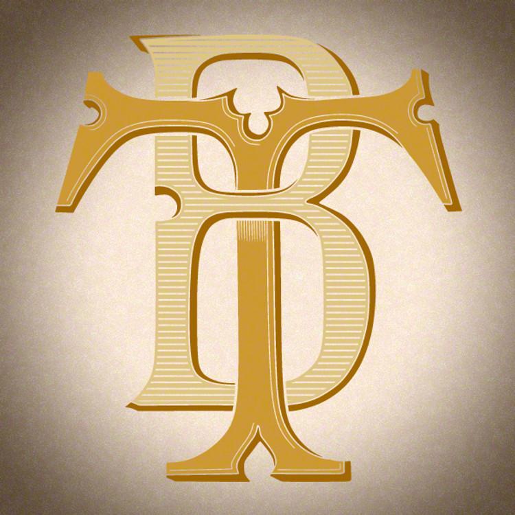 Victorian Monogram BT TB D2 - hand drawn design, graphic design only - download