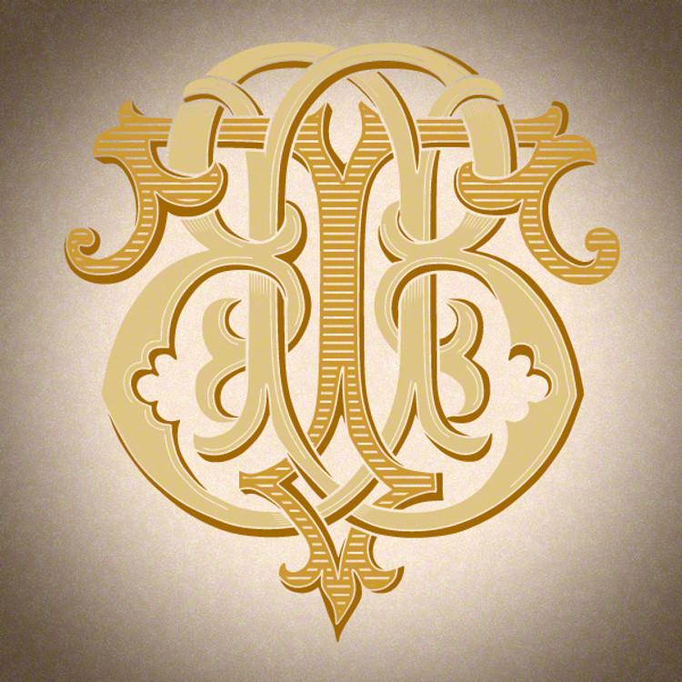 Victorian Monogram BT TB D3 - hand drawn design, graphic design only - download