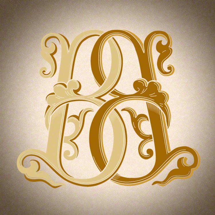 Victorian Monogram BB D2 - hand drawn design, graphic design only - download