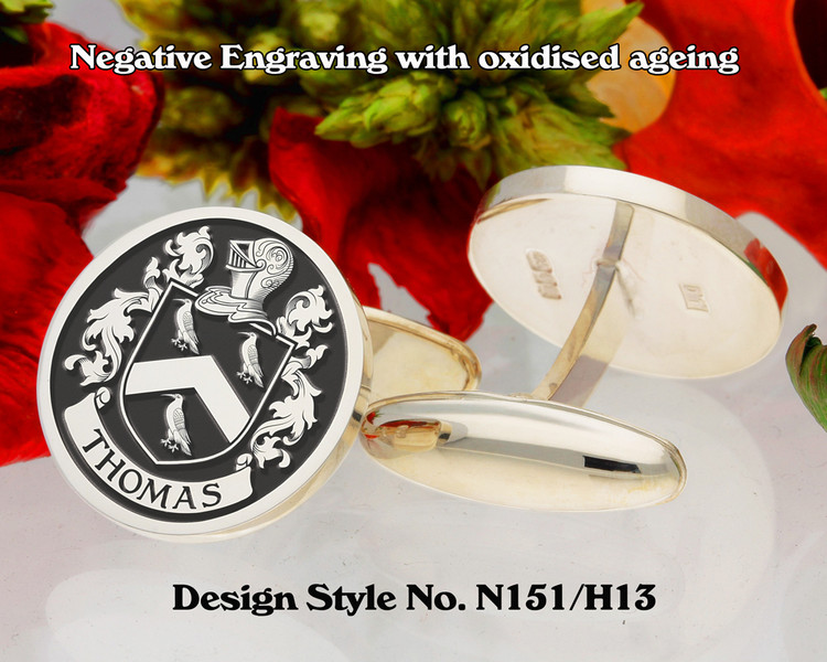 Thomas Family Crest Cufflinks