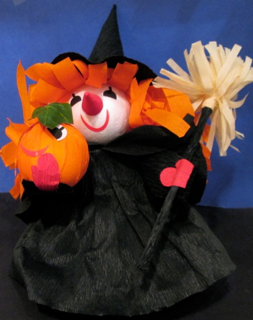 Witch with Broom (1, 2 or 6 pcs)