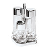 thumbnail image of Sambonet Linear Square cruet set, 4 pcs, 4 3/4 x 4 3/4 x 8 5/8 inch