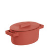 thumbnail image of Sambonet Terra Cotto Cast Iron Oval Casserole with Lid, Paprika, 5 x 4 inch