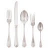 thumbnail image of Filet Toiras Silverplated on 18/10 Stainless Steel 5 pcs Place Setting, solid handle