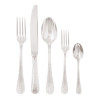 thumbnail image of Ruban Croise Silverplated on 18/10 Stainless Steel 5 pcs Place Setting, solid handle