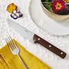 thumbnail image of Steak Knives Stainless Steel & Wood Porterhouse Steak Knife, non-serrated, set of 2
