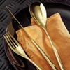 thumbnail image of H Art Gold 18/10 Stainless Steel 5 Pcs Place Setting (solid handle knife)