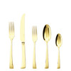 thumbnail image of Imagine Gold 18/10 Stainless Steel 5 Pcs Place Setting (solid handle knife)