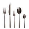thumbnail image of Linea Q Black 18/10 Stainless Steel 5 Pcs Place Setting (solid handle knife)