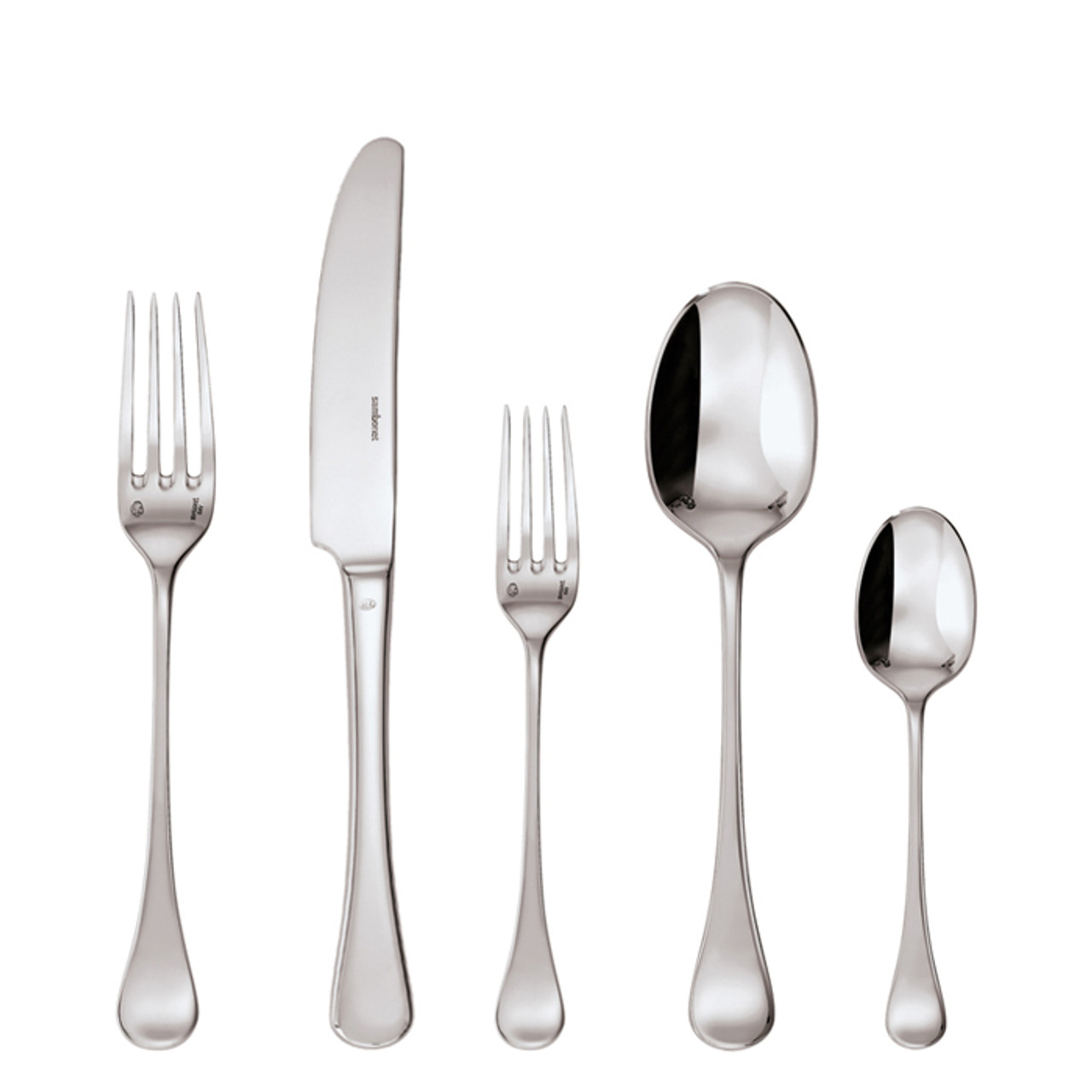 sc 1 st  Sambonet & Queen Anne Silverplated 5 Pcs Place Setting (solid handle knife)