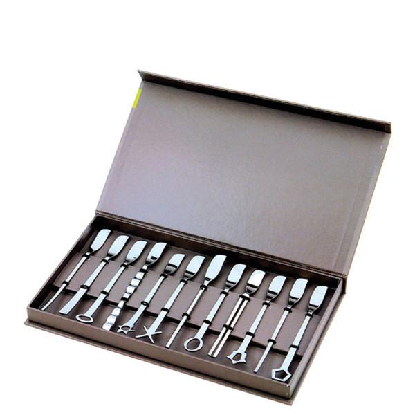Sambonet Party Items - Living Cocktail spatulas, 12 pcs, giftboxed