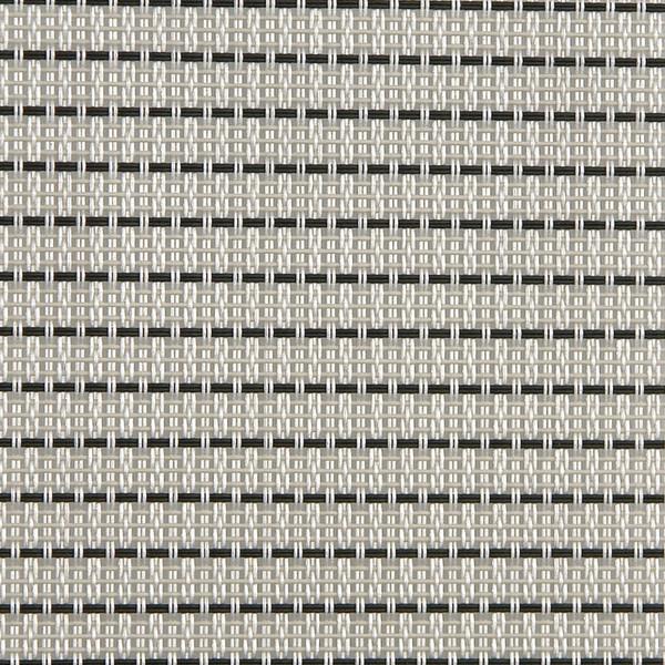 Sambonet Linea Q Table Mats Table mat, white pin-striped, 16 1/2 x 13 inch