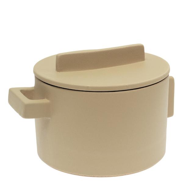 Sambonet Terra Cotto Saucepot, 2 handles with lid, Saffron