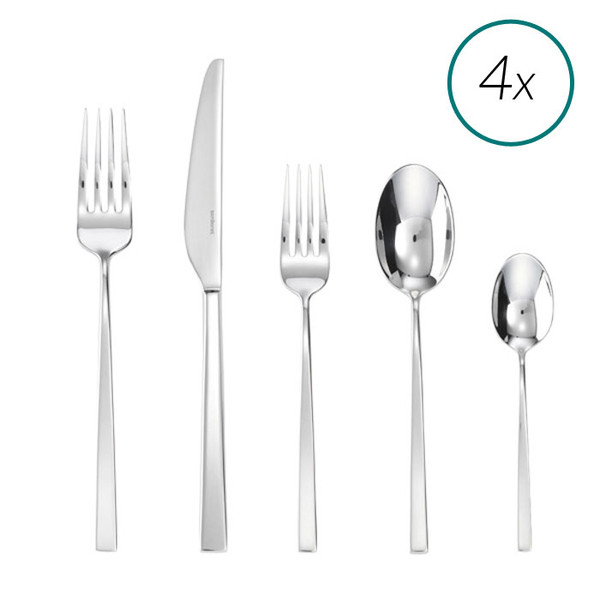 Linea Q 18/10 Stainless Steel 20 Pcs Place Setting