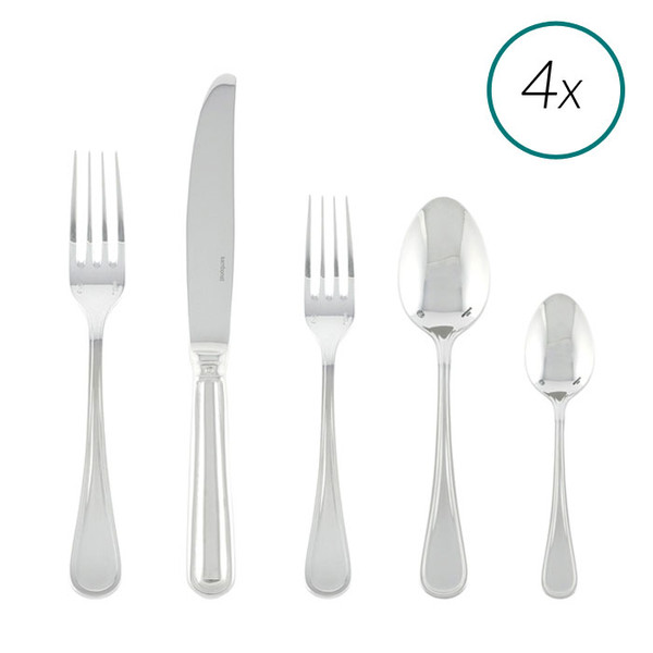 Contour 18/10 Stainless Steel 20 Pcs Place Setting