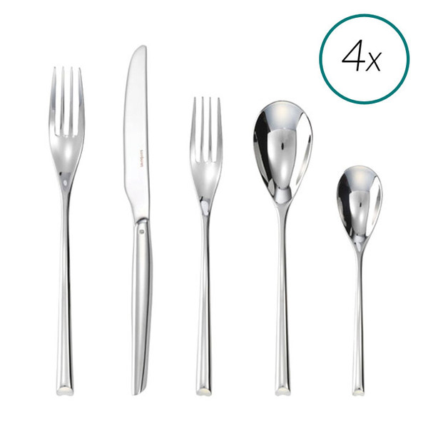 H Art 18/10 Stainless Steel 20 Pcs Place Setting
