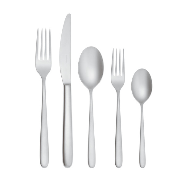 Hannah Antico 18/10 Stainless Steel Antico finishing 5 pcs Place Setting, solid handle