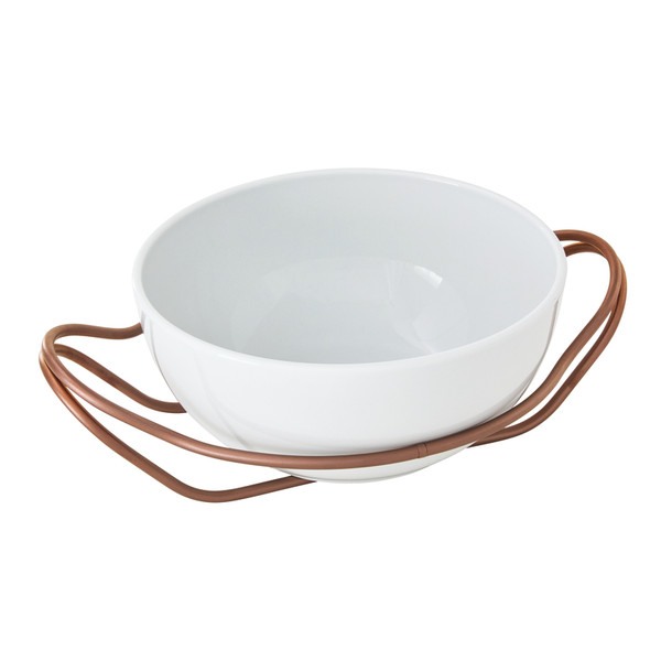 New Living Hi-Tech Copper / Porcelain Round Spaghetti dish set, 10 1/2 x 5 inch