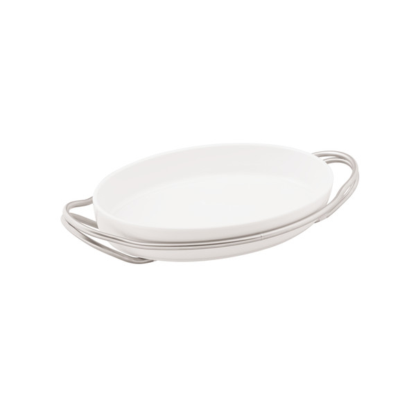 New Living Antico / Porcelain Rectangular porcelain dish set, 13 3/4 x 9 1/2 x 2 3/4 inch