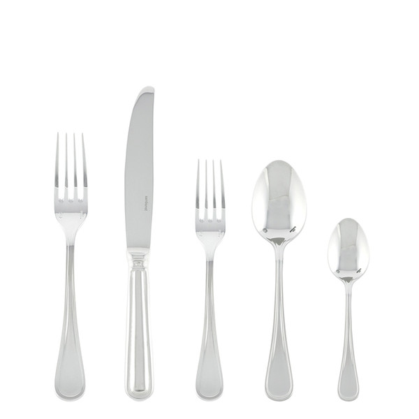 Contour Silverplated 5 Pcs Place Setting (solid handle knife)