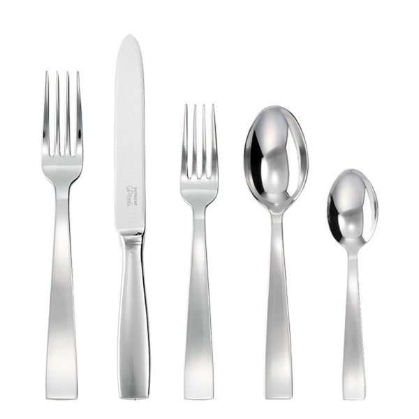Gio Ponti Silverplated 5 Pcs Place Setting (solid handle knife)