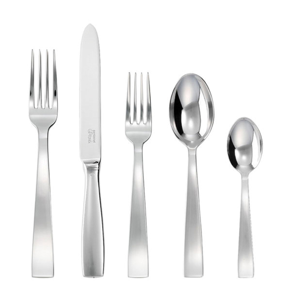 Gio Ponti 18/10 Stainless Steel 5 Pcs Place Setting (solid handle knife)