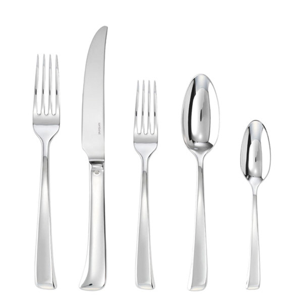 Imagine 18/10 Stainless Steel 5 Pcs Place Setting (solid handle knife)