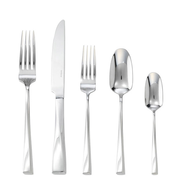 Twist 18/10 Stainless Steel 5 Pcs Place Setting (solid handle knife)