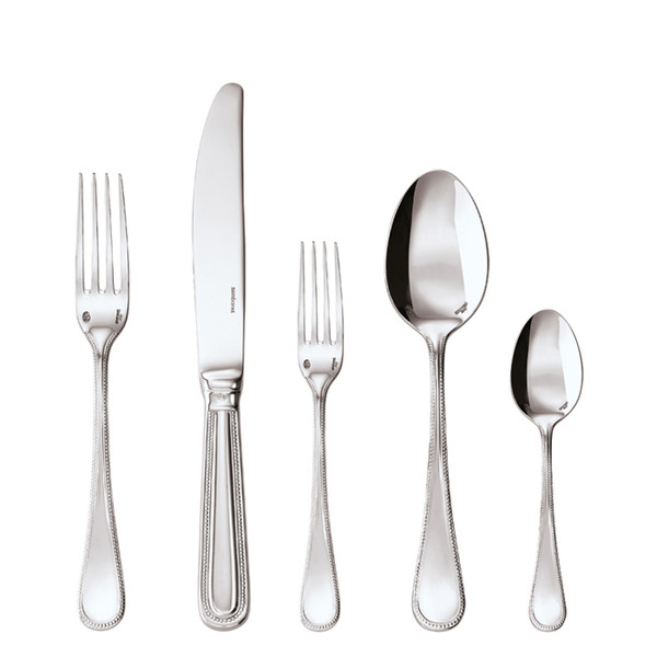 Perles Silverplated 5 Pcs Place Setting (solid handle knife)