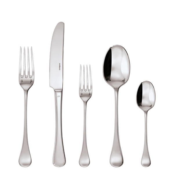 Queen Anne Silverplated 5 Pcs Place Setting (hollow handle knife)