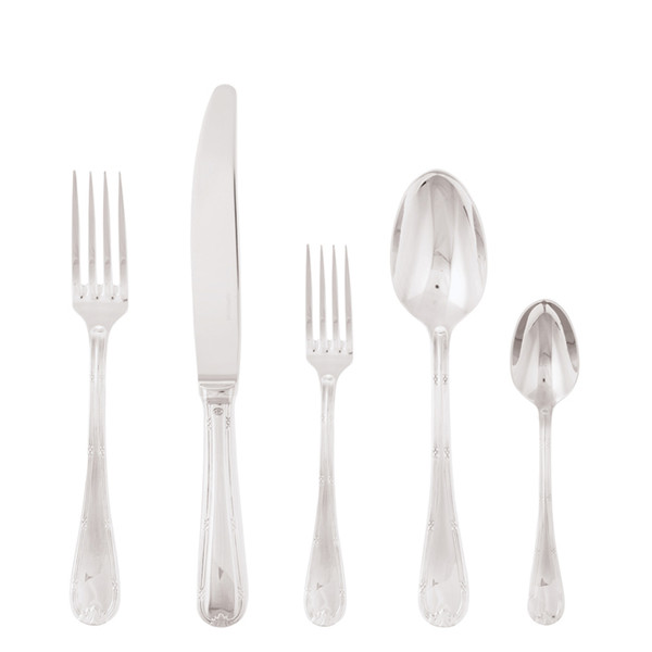 Ruban Croise 18/10 Stainless Steel 5 Pcs Place Setting (solid handle knife)