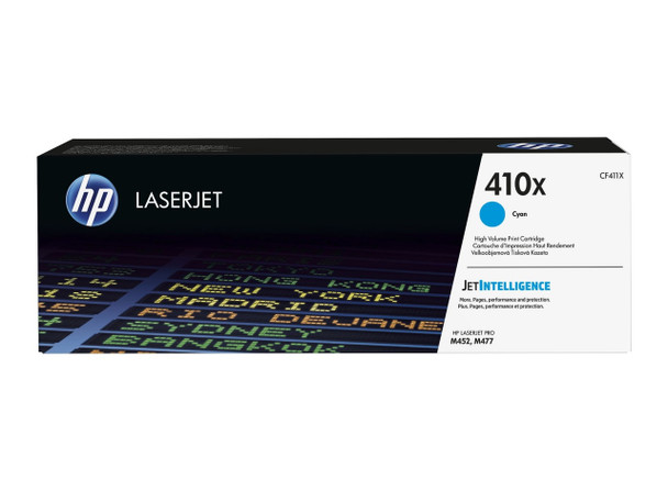 HP 410X High Yield Cyan LaserJet Toner Cartridge (CF411X)