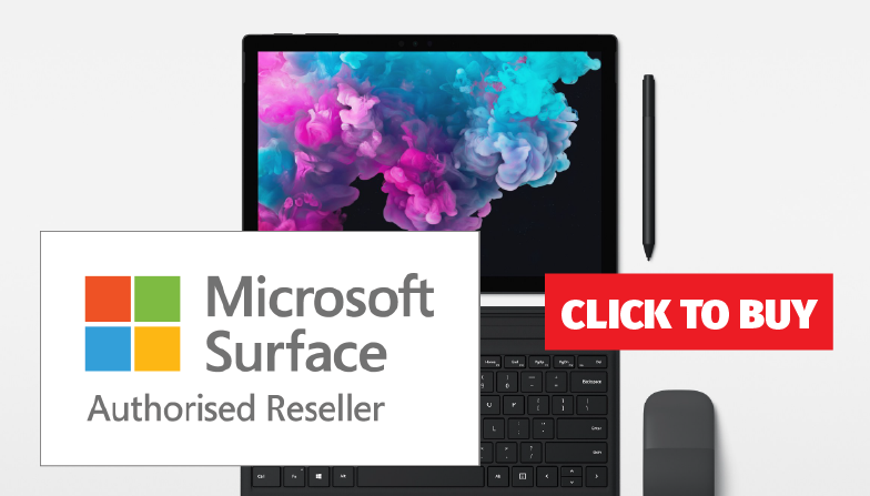 Authorised Reseller for Microsoft Surface - Click to Buy