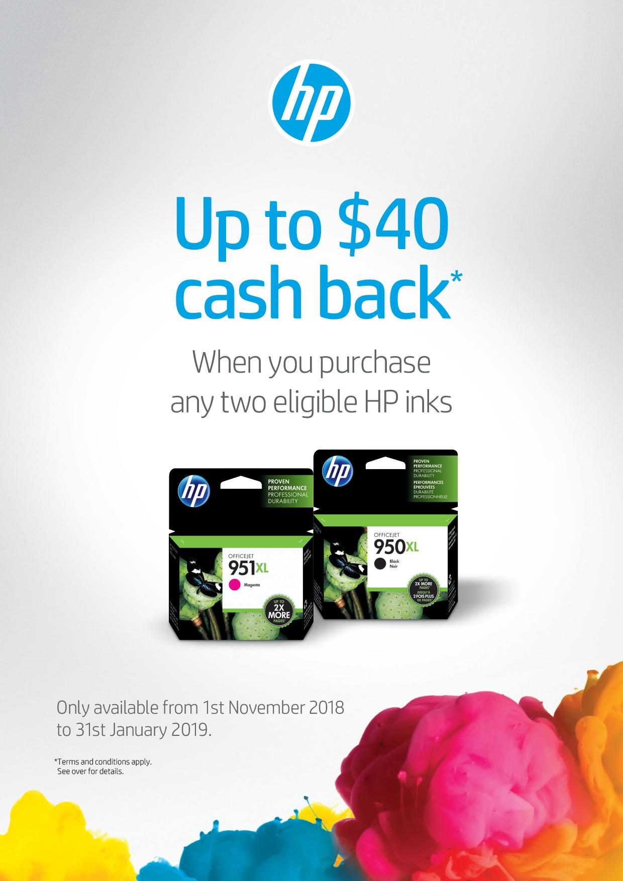 HP Multi Buy Ink Promotion Tearpad