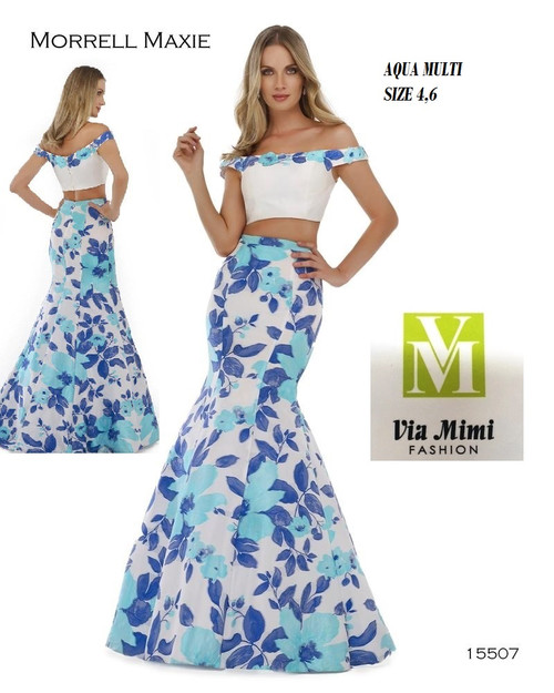 MORRELL MAXIE 15507  COLOR: AQUA MULTI  AS THE SAMPLE  SIZES: 4-6 ONLY  BEFORE  $459.00    NOW $225.00   JACQUARD  PRINT  FOR MORE IMFORMATION AND PRICE PLEASE GIVE US A CALL  WE BEAT  ALL PRICES !!!!  VIA MIMI FASHION  1333 S. SANTEE ST.  LA,CA.90015  TEL: (213)748-MIMI (6464)  FAX: (213)749-MIMI (6464)  E-Mail: mimi@viamimifashion.com  https://www.facebook.com/viamimifashion     https://www.instagram.com/viamimifashion