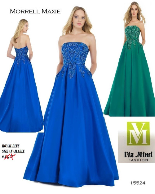 MORRELL MAXIE 15524  COLOR: EMERALD, ROYAL  SIZES: 6 ONLY  BEFORE $429.00    NOW $239.00   MIKADO WITH BEADED TOP  FOR MORE IMFORMATION AND PRICE PLEASE GIVE US A CALL  WE BEAT  ALL PRICES !!!!  VIA MIMI FASHION  1333 S. SANTEE ST.  LA,CA.90015  TEL: (213)748-MIMI (6464)  FAX: (213)749-MIMI (6464)  E-Mail: mimi@viamimifashion.com  https://www.facebook.com/viamimifashion     https://www.instagram.com/viamimifashion
