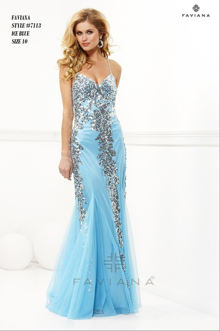 FAVIANA STYLE 7113  COLOR : ICE BLUE   SIZE :  10   ONLY   BEFORE $399.00  NOW $249.00  WE BEAT ALL PRICES !!!  FRO MORE IMFORMATION PLEASE CALL US   VIA MIMI FASHION  1333 S. SANTEE ST.  LA,CA.90015  TEL: (213)748-MIMI (6464)  FAX: (213)749-MIMI (6464)  E-Mail: mimi@viamimifashion.com  WEBSITE  http://viamimifashion.com  https://www.facebook.com/viamimifashion     https://www.instagram.com/viamimifashion  https://twitter.com/viamimifashion