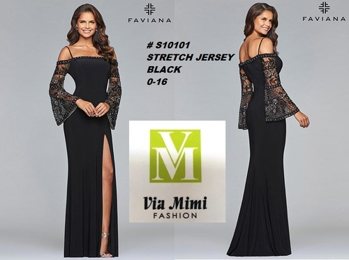 FAVIANA STYLE #S10101  STRETCH JERSEY   SIZE : 00-16  COLOR: BLACK  FOR MORE IMFORMATION AND PRICE PLEASE GIVE US A CALL   WE BEAT  ALL PRICES !!!!  VIA MIMI FASHION  1333 S. SANTEE ST.  LA,CA.90015  TEL: (213)748-MIMI (6464)  FAX: (213)749-MIMI (6464)  E-Mail: mimi@viamimifashion.com  http://viamimifashion.com  https://www.facebook.com/viamimifashion    https://www.instagram.com/viamimifashion  https://twitter.com/viamimifashion