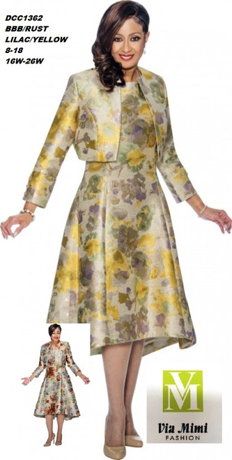 DORINDA CLARK  STYLE #DCC1362 - 2 PC DRESS/JACKET  COLOR: BBB/RUST ;  LILAC/YELLOW  SIZE: 8-18  _______ 16W-26W  FOR MORE IMFORMATION AND PRICE PLEASE GIVE US A CALL   WE BEAT  ALL PRICES !!!!  VIA MIMI FASHION  1333 S. SANTEE ST.  LA,CA.90015  TEL: (213)748-MIMI (6464)  FAX: (213)749-MIMI (6464)  E-Mail: mimi@viamimifashion.com  http://viamimifashion.com  https://www.facebook.com/viamimifashion    https://www.instagram.com/viamimifashion  https://twitter.com/viamimifashion