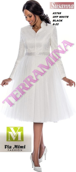 SUSANA STYLE #3765 ONE PC DRESS  COLOR: OFF-WHITE, BLACK  SIZE: 8-22  FOR MORE IMFORMATION AND PRICE PLEASE GIVE US A CALL   WE BEAT  ALL PRICES !!!!  VIA MIMI FASHION  1333 S. SANTEE ST.  LA,CA.90015  TEL: (213)748-MIMI (6464)  FAX: (213)749-MIMI (6464)  E-Mail: mimi@viamimifashion.com  http://viamimifashion.com  https://www.facebook.com/viamimifashion    https://www.instagram.com/viamimifashion  https://twitter.com/viamimifashion