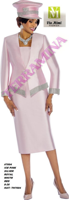 TERRAMINA #7604___ 3 PC SET  COLOR: ICE PINK, SILVER, ROYAL, WHITE, RED  SIZE: 8-26  HAT: TH7604  FOR MORE IMFORMATION AND PRICE PLEASE GIVE US A CALL   WE BEAT  ALL PRICES !!!!  VIA MIMI FASHION  1333 S. SANTEE ST.  LA,CA.90015  TEL: (213)748-MIMI (6464)  FAX: (213)749-MIMI (6464)  E-Mail: mimi@viamimifashion.com  http://viamimifashion.com  https://www.facebook.com/viamimifashion    https://www.instagram.com/viamimifashion  https://twitter.com/viamimifashion