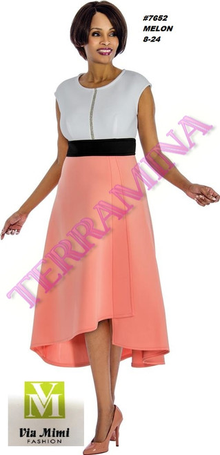 TERRAMINA #7652___ ONE PC DRESS  COLOR: MELON  SIZE: 8-24  FOR MORE IMFORMATION AND PRICE PLEASE GIVE US A CALL   WE BEAT  ALL PRICES !!!!  VIA MIMI FASHION  1333 S. SANTEE ST.  LA,CA.90015  TEL: (213)748-MIMI (6464)  FAX: (213)749-MIMI (6464)  E-Mail: mimi@viamimifashion.com  http://viamimifashion.com  https://www.facebook.com/viamimifashion    https://www.instagram.com/viamimifashion  https://twitter.com/viamimifashion