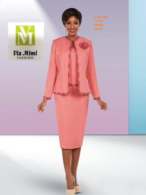 EXECUTIVE #11673___3 PC SET  COLOR: CORAL  SIZE: 12-30  FOR MORE IMFORMATION AND PRICE PLEASE GIVE US A CALL   WE BEAT  ALL PRICES !!!!  VIA MIMI FASHION  1333 S. SANTEE ST.  LA,CA.90015  TEL: (213)748-MIMI (6464)  FAX: (213)749-MIMI (6464)  E-Mail: mimi@viamimifashion.com  http://viamimifashion.com  https://www.facebook.com/viamimifashion    https://www.instagram.com/viamimifashion  https://twitter.com/viamimifashion