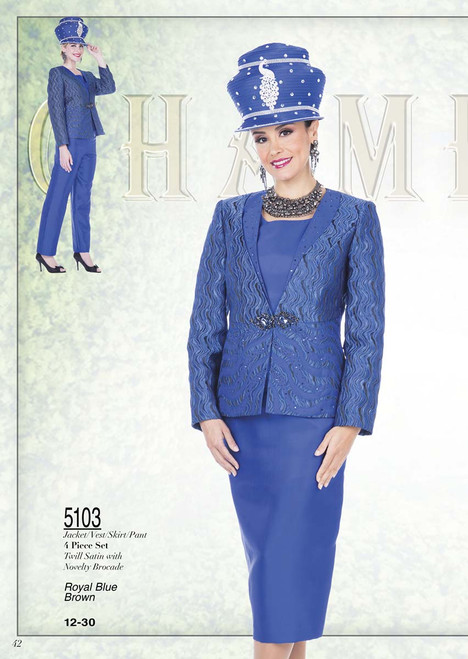 CHAMPAGNE #5103__ 4 PC SET  COLOR: ROYAL BLUE,  BROWN  SIZE: 12-30  FOR MORE IMFORMATION AND PRICE PLEASE GIVE US A CALL   WE BEAT  ALL PRICES !!!!  VIA MIMI FASHION  1333 S. SANTEE ST.  LA,CA.90015  TEL: (213)748-MIMI (6464)  FAX: (213)749-MIMI (6464)  E-Mail: mimi@viamimifashion.com  http://viamimifashion.com  https://www.facebook.com/viamimifashion    https://www.instagram.com/viamimifashion  https://twitter.com/viamimifashion