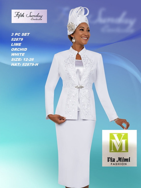 FIFTH SUNDAY #52879__ 3 PC SET  COLOR: WHITE, ORCHID, LIME  SIZE : 12-26  HAT: 52879-H  FOR MORE IMFORMATION AND PRICE PLEASE GIVE US A CALL   WE BEAT  ALL PRICES !!!!  VIA MIMI FASHION  1333 S. SANTEE ST.  LA,CA.90015  TEL: (213)748-MIMI (6464)  FAX: (213)749-MIMI (6464)  E-Mail: mimi@viamimifashion.com  http://viamimifashion.com  https://www.facebook.com/viamimifashion    https://www.instagram.com/viamimifashion  https://twitter.com/viamimifashion