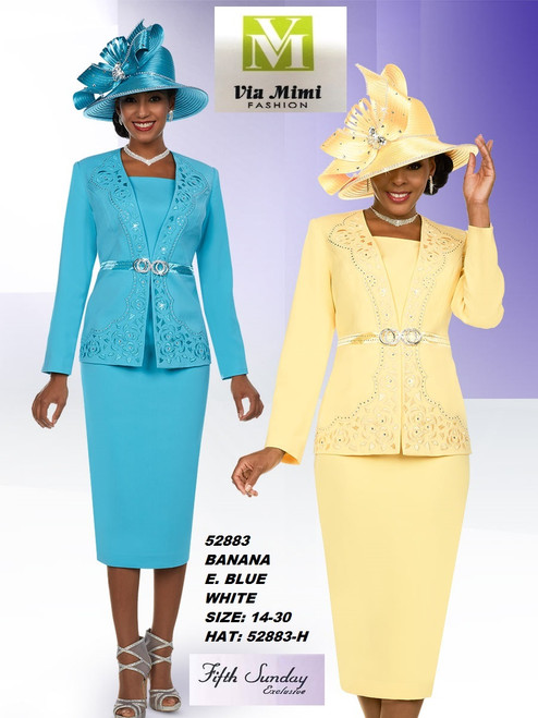 FIFTH SUNDAY #52883__ 2 PC SET  COLOR: BANANA , BLUE, WHITE  SIZE : 14-30  HAT: 52883-H  FOR MORE IMFORMATION AND PRICE PLEASE GIVE US A CALL   WE BEAT  ALL PRICES !!!!  VIA MIMI FASHION  1333 S. SANTEE ST.  LA,CA.90015  TEL: (213)748-MIMI (6464)  FAX: (213)749-MIMI (6464)  E-Mail: mimi@viamimifashion.com  http://viamimifashion.com  https://www.facebook.com/viamimifashion    https://www.instagram.com/viamimifashion  https://twitter.com/viamimifashion