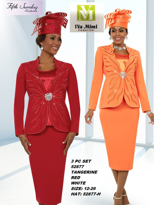 FIFTH SUNDAY #52877__ 3 PC SET  COLOR: TANGERINE, RED, WHITE  SIZE : 12-26  HAT: 52877-H  FOR MORE IMFORMATION AND PRICE PLEASE GIVE US A CALL   WE BEAT  ALL PRICES !!!!  VIA MIMI FASHION  1333 S. SANTEE ST.  LA,CA.90015  TEL: (213)748-MIMI (6464)  FAX: (213)749-MIMI (6464)  E-Mail: mimi@viamimifashion.com  http://viamimifashion.com  https://www.facebook.com/viamimifashion    https://www.instagram.com/viamimifashion  https://twitter.com/viamimifashion