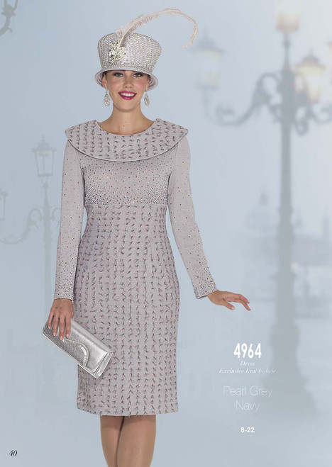 ELITE #4964__ ONE PC KNIT  DRESS  COLOR: PEARL GREY, NAVY  SIZE: 8-22  FOR MORE IMFORMATION AND PRICE PLEASE GIVE US A CALL   WE BEAT  ALL PRICES !!!!  VIA MIMI FASHION  1333 S. SANTEE ST.  LA,CA.90015  TEL: (213)748-MIMI (6464)  FAX: (213)749-MIMI (6464)  E-Mail: mimi@viamimifashion.com  http://viamimifashion.com  https://www.facebook.com/viamimifashion    https://www.instagram.com/viamimifashion  https://twitter.com/viamimifashion